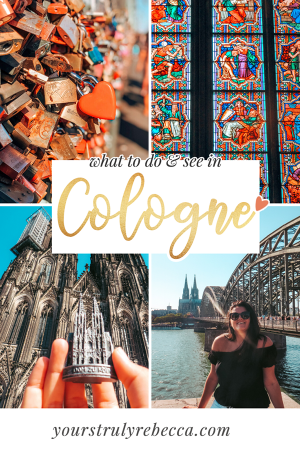Click here to find out the top things to do in Cologne Germany. Cologne is famous for its 600+ year old Cathedral, chocolate museum, food and the Christmas market! Read my full guide on what to do in Cologne here. #cologne #germany #colognegermany #cathedral #christmasmarket #photography #instagram #food