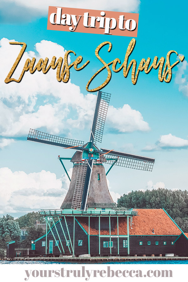 Zaanse Schans is the perfect day trip from Amsterdam, Netherlands. Spend the day wandering around the windmills and learn more about Holland's rural history. Zaanse Schans is the truly the best day trip in the Netherlands. #netherlands #holland #zaanseschans #zaanse #windmills #photography #holland