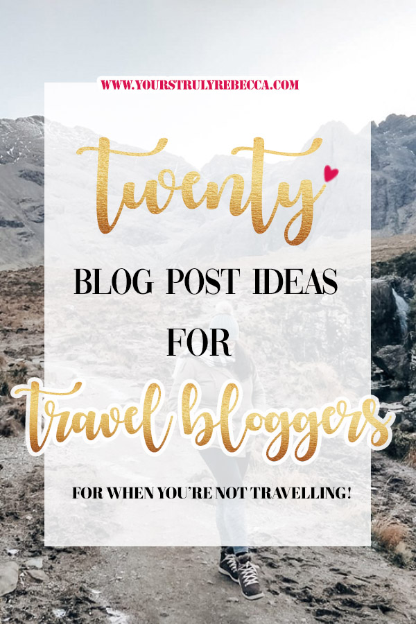 Check out this blog for travel blog post ideas! From creating your own bucketlists and how to start a blog, this blog post will for sure give your readers some serious wanderlust! #blogpostideas #travelblogpostideas #wanderlust #bucketlist #tips