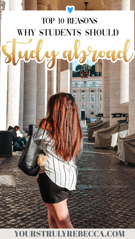 Check out my top 10 tips why students should study abroad! I spent six months in Italy after winning a scholarship and it was the best time of my life. Click here for some serious travel motivation and studying tips.