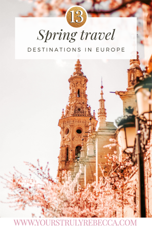 Stuck on ideas on where to travel this spring? I gotchu! In this blog post, I give you a list of places to help you plan out your spring travel destinations list for spring break 2020! From Portugal, to Sicily, to Liechtenstein, this blog post has got it all! #springtravel #springtraveldestinations #springbreak2020 #europe #travel #europetravel