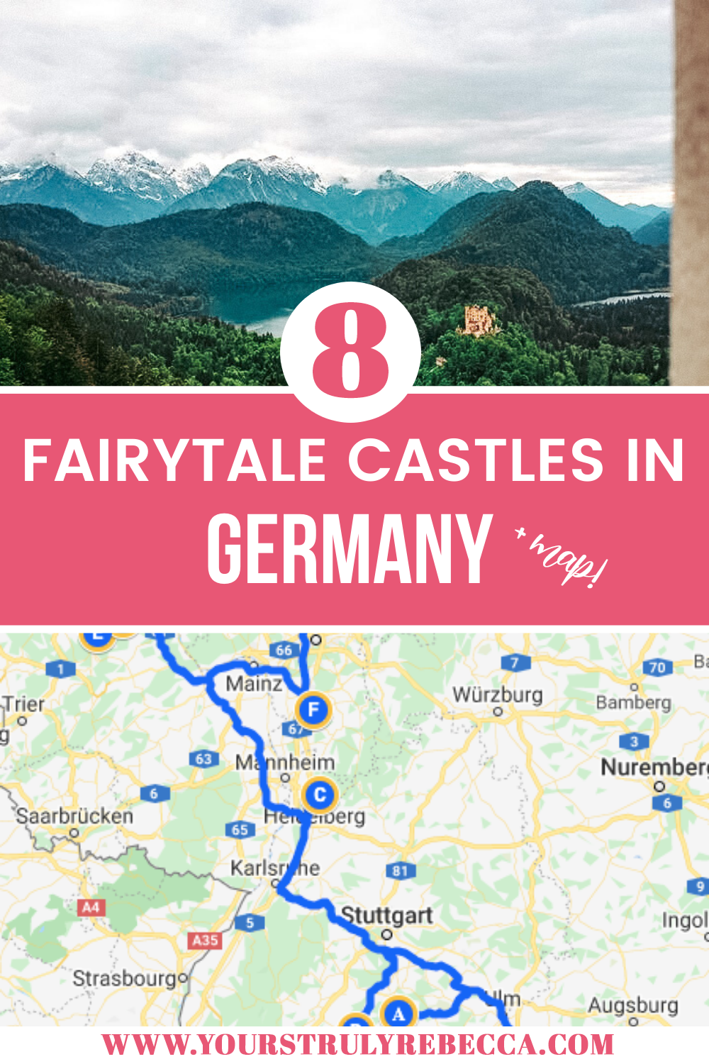 From Neuschwanstein Castle to the Heidelberg Castle and Burg Eltz, Germany is dotted with stunning castles. Check out this blog post for the ULTIMATE list of castles to visit in Germany! #liechtenstein #burgeltz #neuschwanstein #germany #castles
