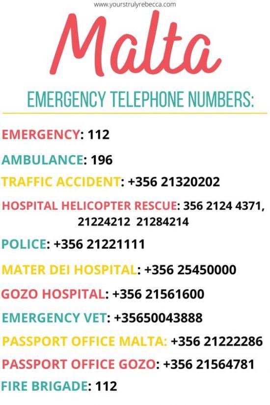 malta-emergency-phone-numbers-yours-truly-rebecca